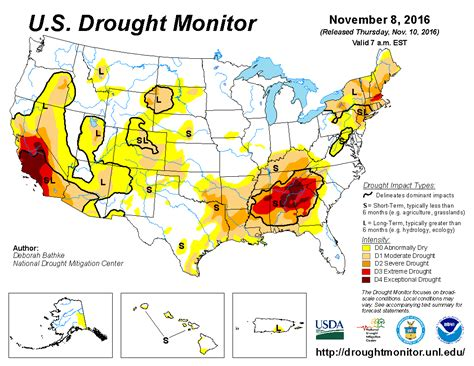 u s drought monitor update for november 8 2016