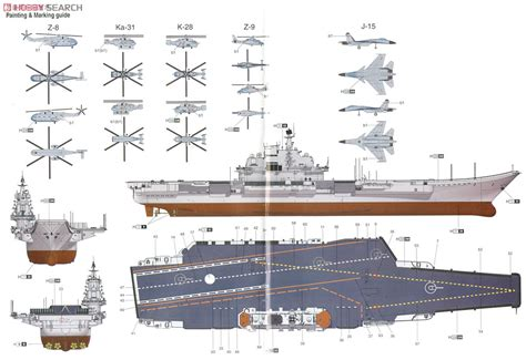 aircraft carrier floor plan plan training aircraft carrier shi lang plastic model color2