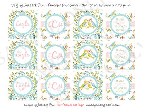 baby shower label template for favors tweet lovebirds baby shower favors tags cupcake toppers printable 183 just click print