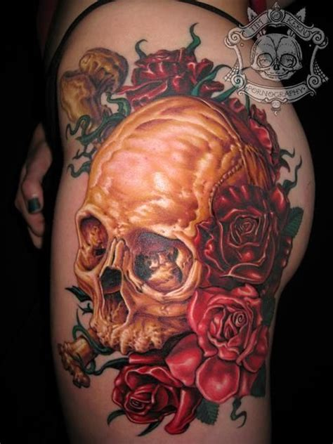 skeleton and roses tattoo best skull designs our top 10 badass tattoos
