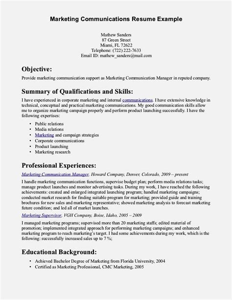 communication resume exles excellent communication skills resume resume template