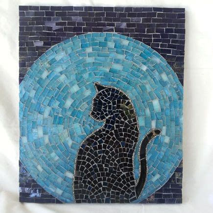 easy mosaic pattern ideas cat moon rising stained glass mosaic house of the rising