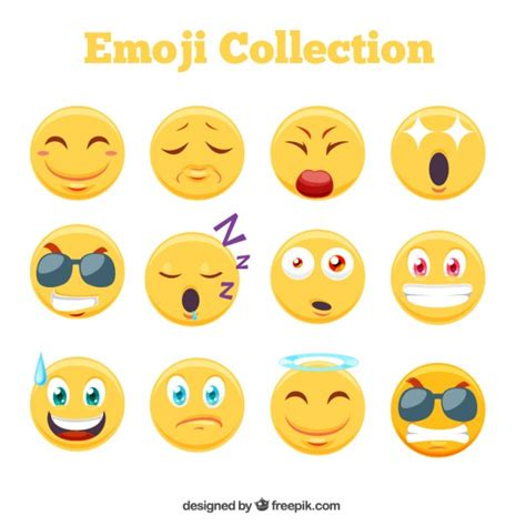 emoji download awesome emoji collection vector free download