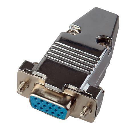 15 pin hd d sub connector with metal dj15hd