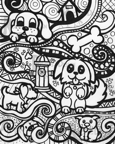 doodle 4 lã gã instant coloring page print zentangle