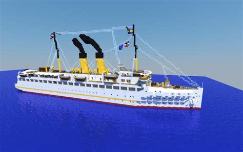 minecraft boat town train ferry quot preussen quot 1909 creation 10828