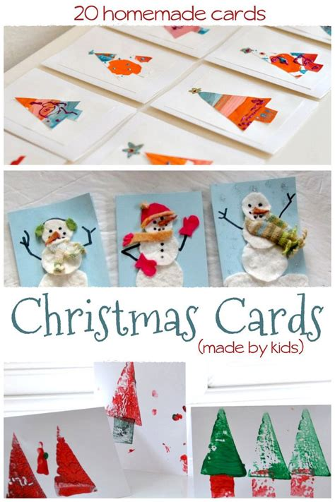 homemade christmas cards    kids preschool