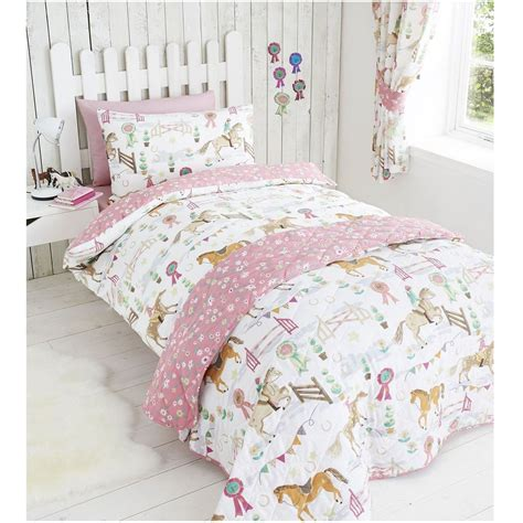 Twin Comforter Sets With Matching Curtains Horse Show Duvet Cover Sets In Various Sizes Girls Bedding