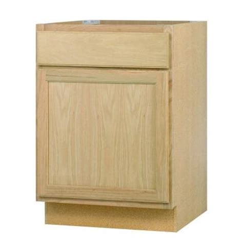 Unfinished Base Kitchen Cabinets 24x34 5x24 In Base Cabinet In Unfinished Oak B24ohd The Home Depot