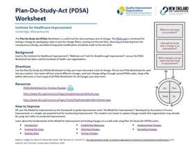 pdsa template pdsa worksheet davezan