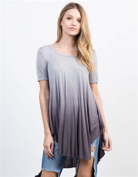 flowy meaning flowy ombre tunic top grey tie dye top short sleeve