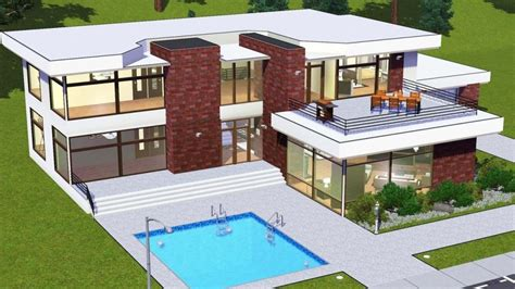 Ideal Homes Floor Plans Modern House Floor Plans Sims 3 Beautiful Home Design