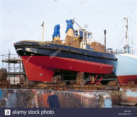 tugboat yards a tug with a voith schneider propulsion unit in a ship