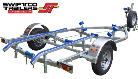boat trailer rollers or skids swiftco 5 metre boat trailer skid type 7 2500 00