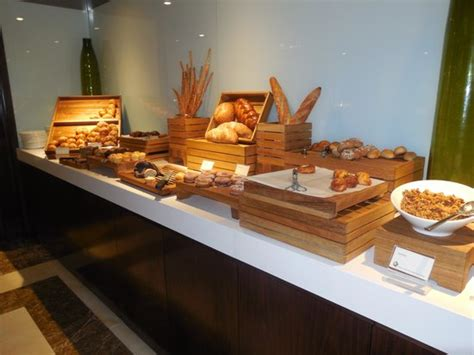 bread selection at breakfast buffet