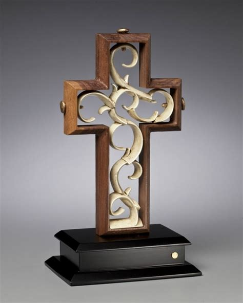 Wedding Ceremony Unity Cross by Unity Cross Rugged Solid Black Walnut With Vintage