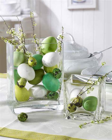 easter centerpieces to make easter eggs presented in a glass container make a gorgeous decoration easter