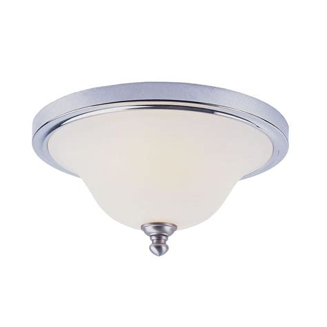 Chrome Ceiling Light Hton Bay 2 Light Polished Chrome Ceiling Flushmount F567ch02 The Home Depot