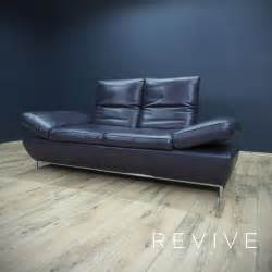 sofa lila koinor designer leder sofa violett lila funktion