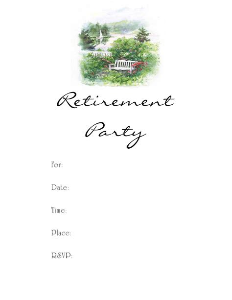 Retirement Party Invitation Template Party Invitations Templates Retirement Invitation Template