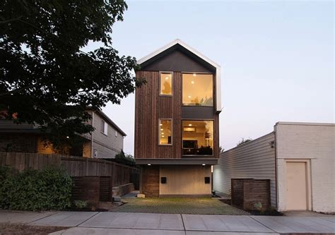 narrow modern house vertical house raises sustainable seattle living to new