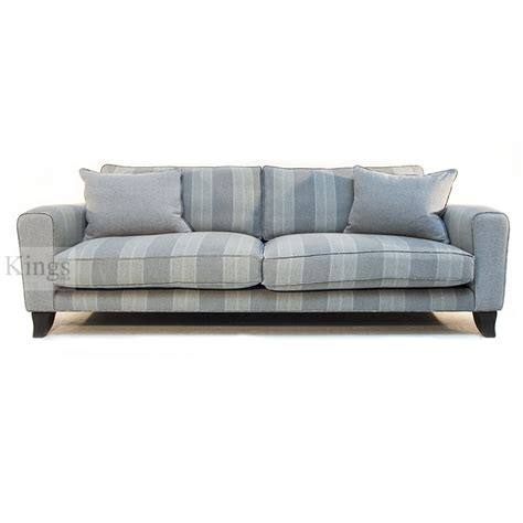 sankey voltaire king sofa in cooper stripe sold