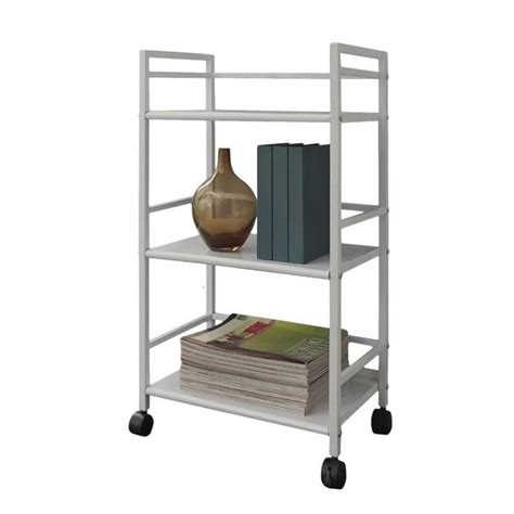 Three Shelf Rolling Cart by Altra Furniture Marshall 3 Shelf Metal Rolling Utility