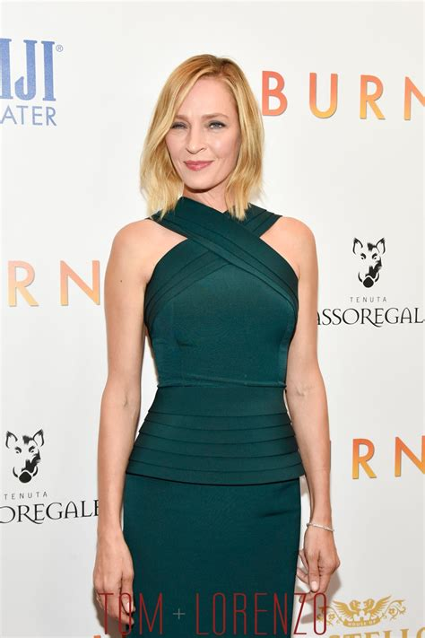 Scandinavian Style by Uma Thurman In Brandon Maxwell At The Quot Burnt Quot New York