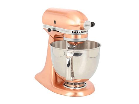 Satin Copper Kitchenaid Mixer by On Sale Kitchenaid Ksm152ps Custom Metallic Series 5 Qt