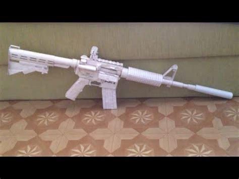 How Do You Make A Paper Gun - how to make a paper gun that shoots m4 assault rifle