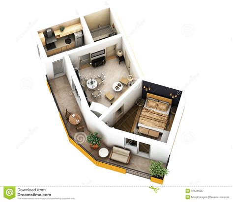 3 l floor l 3d floor plan royalty free stock photo image 37626555