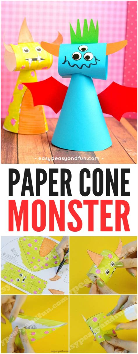 paper cone craft paper cone craft easy peasy and