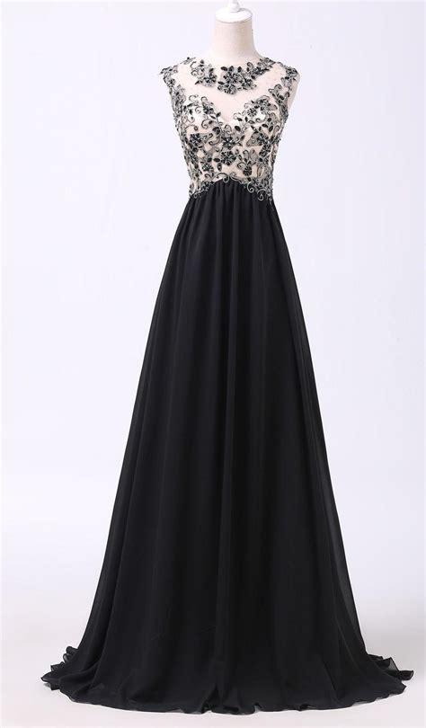 Chiffon Gown Black by Black Chiffon Evening Dress Popular Lace Plus