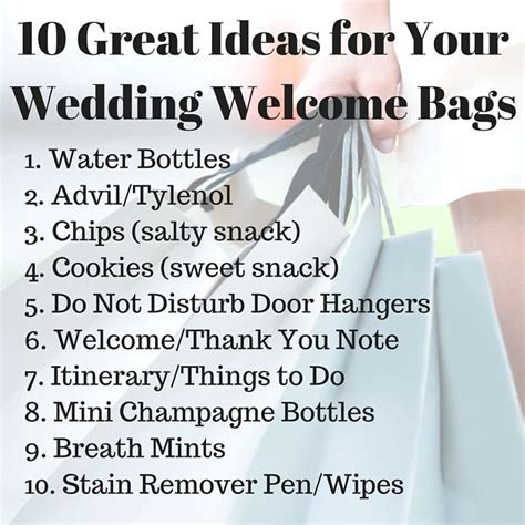 10 Great Ideas for Your Wedding Welcome Bags   Learn from