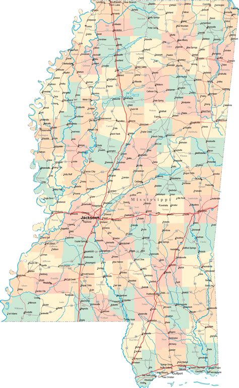 map of ms mississippi road map ms road map mississippi highway map