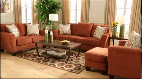 Ashley Furniture Homestore Corson Sofa Rust Youtube Burnt Orange Living Room Furniture