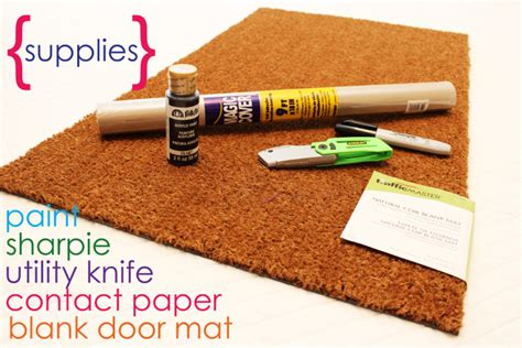 How To Make Paper Mat - easy project for summer diy personalized door mats