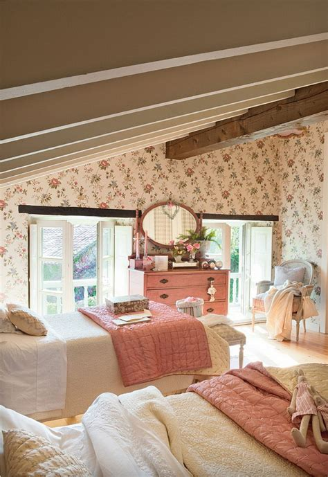 cottage attic bedroom ideas french country cottage with christmas decor home bunch