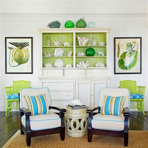 lime green decor completely coastal