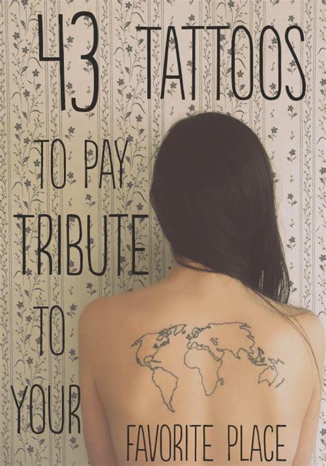 43 tatuaggi per fare il giro del mondo sulla propria pelle