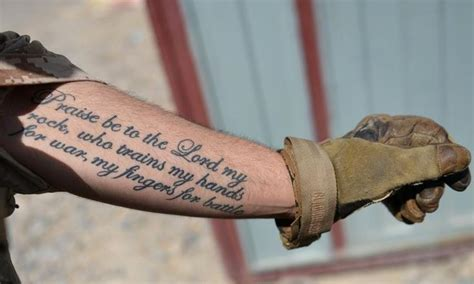 psalm 144 1 tattoo praise be to the lord my rock who trains my for war