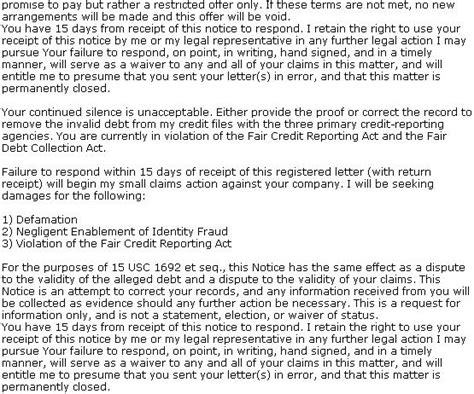 Hardship Letter For Garnishment Debt Validation Letter Sle Letter To Dispute Your Debt