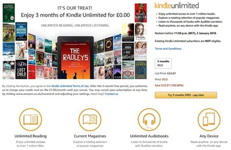 get three months of kindle unlimited for 1 99 a saving of 22 it s back get 3 months of kindle unlimited for free