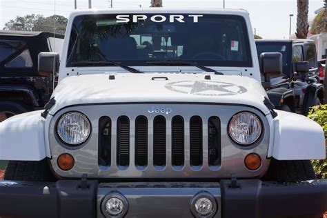Jeep Windshield Jeep Sport Windshield Decal For Your Jeep Wrangler Jk Tj