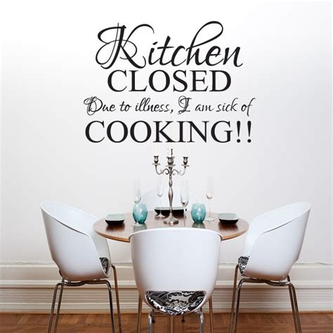 kitchen closed wall art quote sticker kitchen dining room home love decal stopgraphicsshop wall decals wall stickers wall arts
