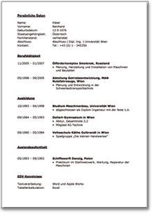 Bewerbungsschreiben Ausbildung Landwirt Muster Lebenslauf Word Lebenslauf Muster 214 Sterreich Kostenlos