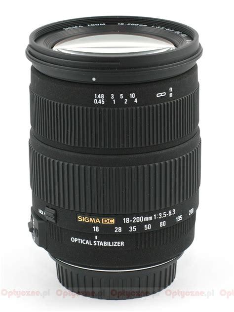 Sigma Lensa 18 200mm F 3 5 6 3 Dc Macro Os Hsm C For Nikon lenstip lens review lenses reviews lens specification lenstip