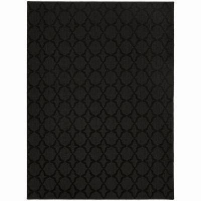 Black Rug by Garland Rug Sparta Black 5 Ft X 7 Ft Area Rug Cl 10 Ra