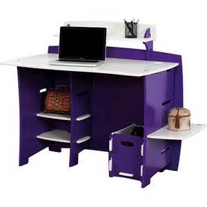 legare grape 43 inch multi pack contemporary desk - Purple Desk L