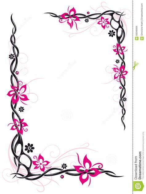 tattoo flower frame flowers frame stock vector image 60046669
